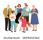 big family. father and mother ... | Shutterstock . vector #1859642362
