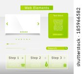 web elements collection set.... | Shutterstock .eps vector #185966582