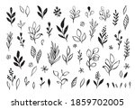 vector branches and leaves....   Shutterstock .eps vector #1859702005