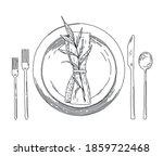 vector illustration of a plate  ...   Shutterstock .eps vector #1859722468