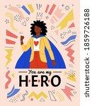you are my hero. vector... | Shutterstock .eps vector #1859726188