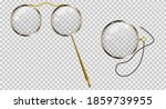 gold monocle on a cord  gold...   Shutterstock .eps vector #1859739955