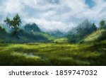 Summer Landscape With A Meadow...