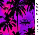 hawaiian style   seamless...   Shutterstock .eps vector #1859751835