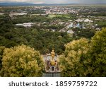 Aerial View Of Golden Buddha...