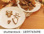 Gingerbread Cookies With Icing...