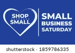small business saturday is an... | Shutterstock .eps vector #1859786335