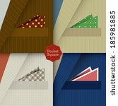 pocket squares     Shutterstock .eps vector #185981885