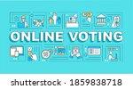 online voting word concepts...