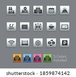 hotel and rentals icons 1 of 2  ... | Shutterstock .eps vector #1859874142