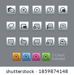 bubble icons    satinbox series ... | Shutterstock .eps vector #1859874148