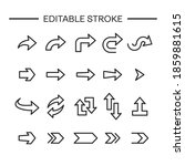 arrows icon line with editable... | Shutterstock .eps vector #1859881615
