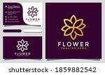 modern creative flower logo...   Shutterstock .eps vector #1859882542