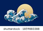 japan wave ocean vector... | Shutterstock .eps vector #1859883388