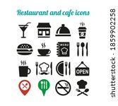 restaurant and cafe icons set... | Shutterstock .eps vector #1859902258