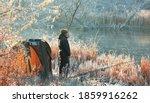 Winter Carp Fishing On The Lake