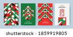 christmas set of greeting cards ... | Shutterstock .eps vector #1859919805
