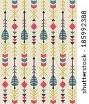 ethnic arrows pattern design.... | Shutterstock .eps vector #185992388