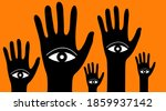 forest of hands with eyes. ... | Shutterstock .eps vector #1859937142
