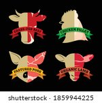 vector farm animals icons with...   Shutterstock .eps vector #1859944225