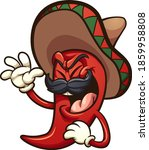 laughing mexican red chili... | Shutterstock .eps vector #1859958808