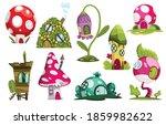 set of fairytale houses.... | Shutterstock .eps vector #1859982622