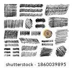 grunge pencil sketches set.... | Shutterstock .eps vector #1860039895