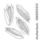 vector illustration of corns... | Shutterstock .eps vector #1860055315