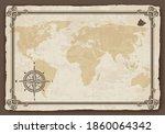 old world map. vector paper... | Shutterstock .eps vector #1860064342