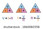 ohm's law triangle on white... | Shutterstock .eps vector #1860082558