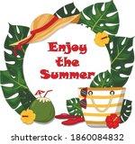 summer banner with enjoy summer ... | Shutterstock .eps vector #1860084832