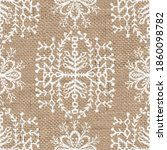 seamless burlap with white... | Shutterstock . vector #1860098782