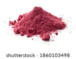 Heap Of Dried Beet Root Powder...