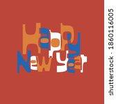 mid century modern  retro and... | Shutterstock .eps vector #1860116005