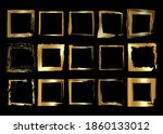 gold frames set  christmas... | Shutterstock .eps vector #1860133012
