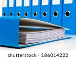 file folder with documents and... | Shutterstock . vector #186014222