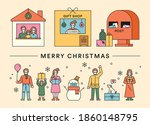 people who send christmas gifts.... | Shutterstock .eps vector #1860148795