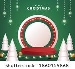 merry christmas banner with... | Shutterstock .eps vector #1860159868