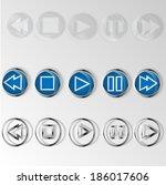 sets of player menu | Shutterstock .eps vector #186017606