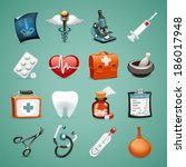 medical icons set1.1 in the eps ...   Shutterstock .eps vector #186017948