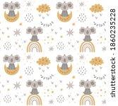 moon rainbow nursery baby... | Shutterstock .eps vector #1860235228