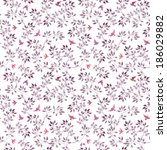 seamless floral background with ...   Shutterstock . vector #186029882