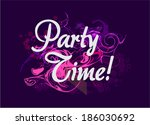 party time background vector .... | Shutterstock .eps vector #186030692