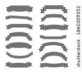 gray ribbon banners set....   Shutterstock . vector #1860309352