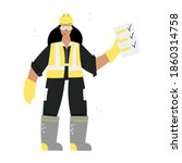 construction or factory woman...   Shutterstock .eps vector #1860314758