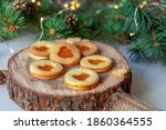 Christmas Linzer Cookie With...