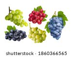 realistic grapes set.... | Shutterstock .eps vector #1860366565