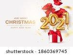 golden realistic numbers...   Shutterstock .eps vector #1860369745