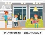 vector portrait of whole family ... | Shutterstock .eps vector #1860405025