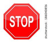 traffic sign stop. vector | Shutterstock .eps vector #186040856